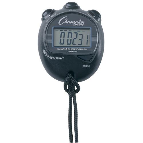 Champion Sports Big Digital Display Stopwatch, Black