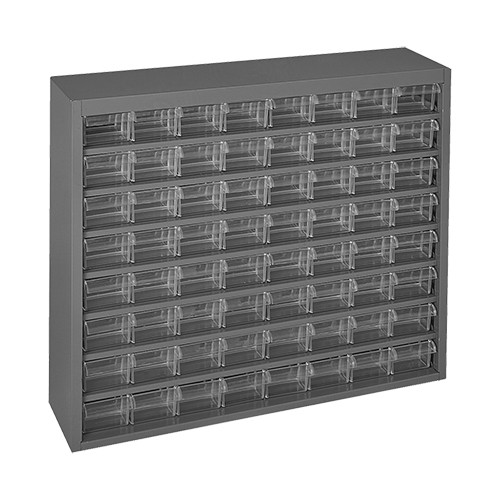 Durham Steel Parts Cabinet with 64 Plastic Drawers