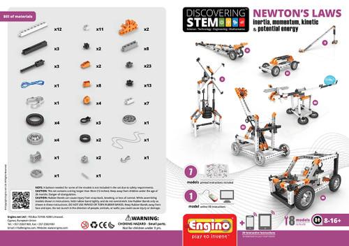 Engino STEM Newton's Laws: Inertia, Momentum, Kinetic & Potential Energy