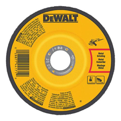 "DeWalt Type 27 Depressed Center Metal Grinding Wheel, 4-1/2"" x 1/4"" x 5/8""-11"