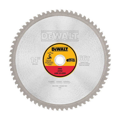 DeWalt Heavy Gauge Ferrous Metal Cutting Saw Blade, 14""