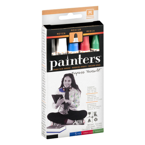 Elmer's Painters Bright Colors Paint Markers, Medium Tip, 5-Piece