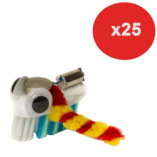 Brown Dog Gadgets Bristlebot Kit, 25 Pack