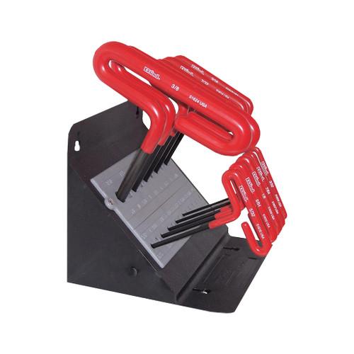 "Eklind T-Handle Hex Key Set, 6"", 10-Piece Fractional Stand"