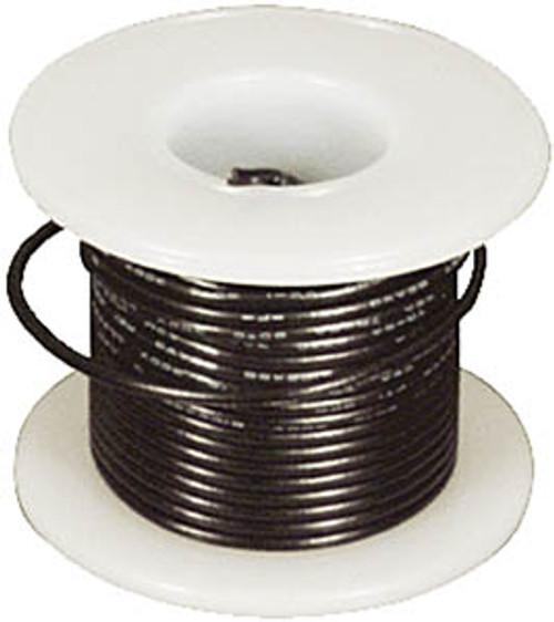 Elenco 22 Ga. Solid Hook-Up Wire, Black, 25'