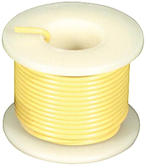 Elenco 22 Ga. Solid Hook-Up Wire, Yellow, 25'