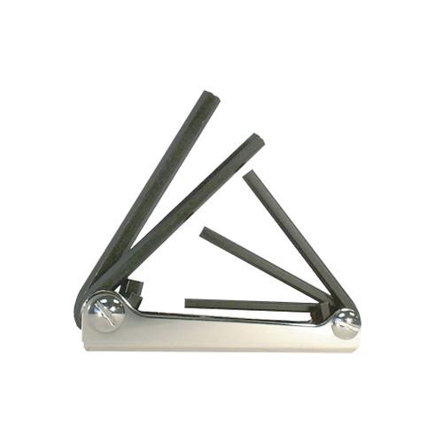 """Eklind Fold-up Hex Set Fractional 5-Piece, 3/16"""" - 3/8"""""""
