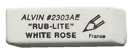 Alvin Rub-Lite White Rose Erasers