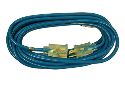Coleman Cable Blue Outdoor Low Temp Extension Cords, 100', 14/3