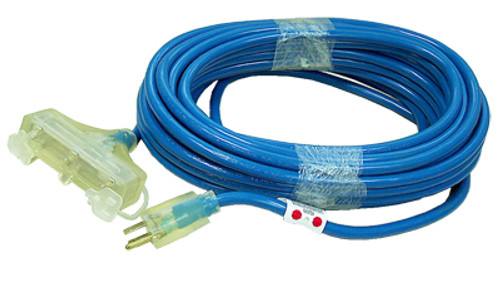 Coleman Cable Blue Outdoor Tri-Source 3-Way Power Block, 50', 12/3