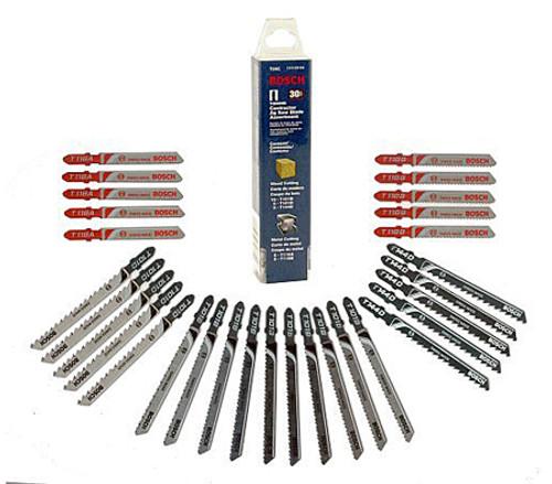 Bosch 30-Piece T-Shank High Carbon Steel Jig Saw Blade Set Contractor Set
