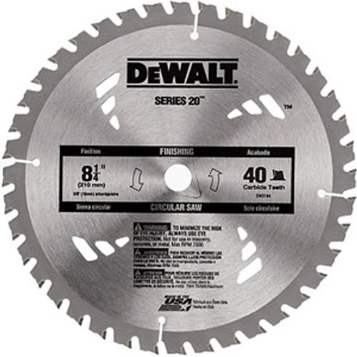 "DeWalt Series 20 Circular Saw Blades General Purpose Combination, 8.25"" 40T"