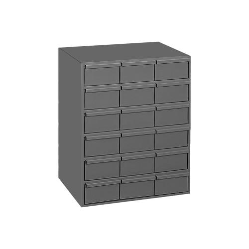 "Durham Steel Drawer Storage Unit, 17-1/4""W, 18 Large Drawers"