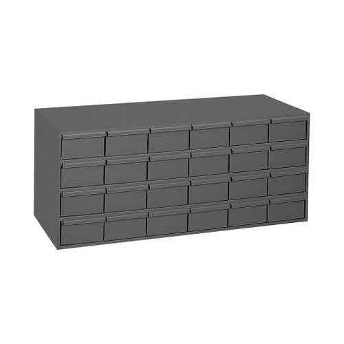 "Durham Steel Drawer Storage Unit, 33-13/16""W, 24 Large Drawers"