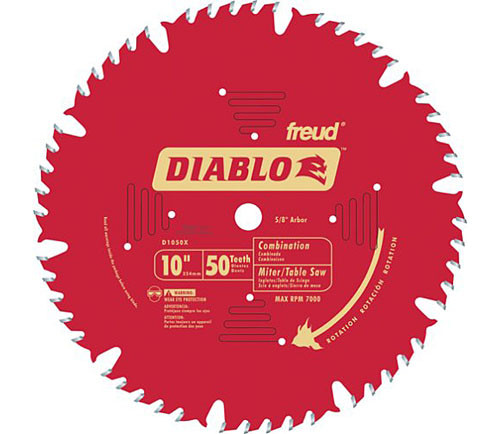 "Freud Diablo 10"" CT Combination Saw Blade"