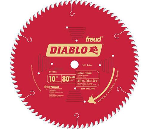 "Freud Diablo 10"" CT Ultrafine Finish Crosscut Saw Blade"