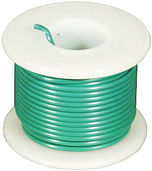 Elenco 24 Ga. Stranded Hook-up Wire, Green