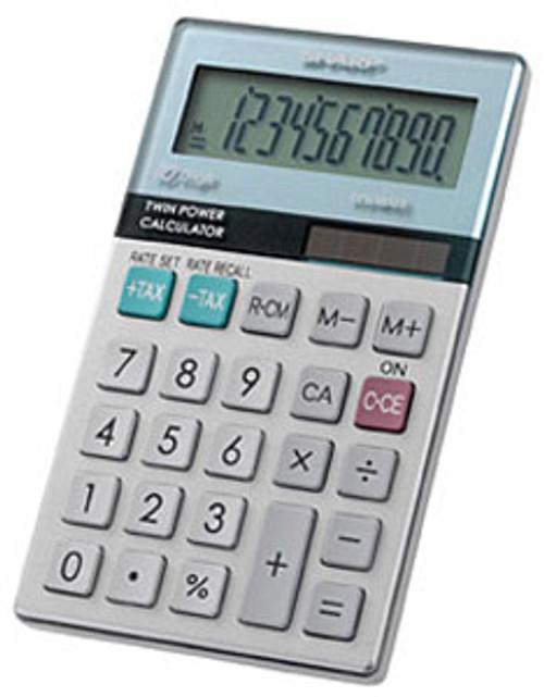 Sharp 10-Digit Solar-powered Calculator