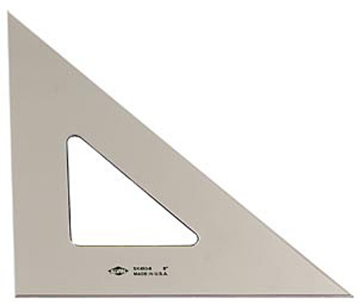 "Alvin Triangle, Smoke-tint, 45/90, 10"""