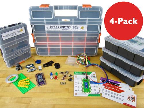 Brown Dog Gadgets Crazy Circuits Classroom Set Programming 101, 4-Pack