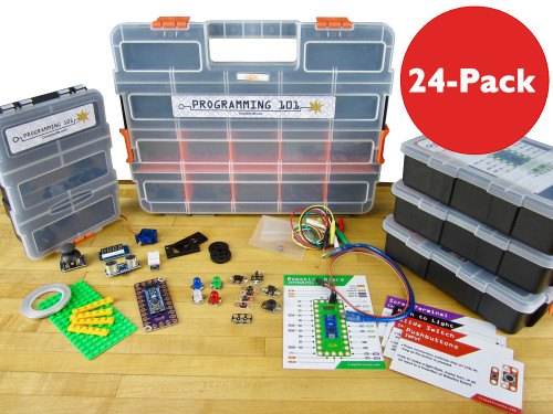 Brown Dog Gadgets Crazy Circuits Classroom Set Programming 101, 24-Pack