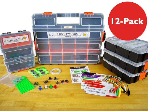 Brown Dog Gadgets Crazy Circuits Classroom Set Circuits 101, 12-Pack