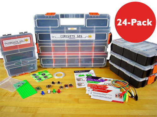 Brown Dog Gadgets Crazy Circuits Classroom Set Circuits 101, 24-Pack
