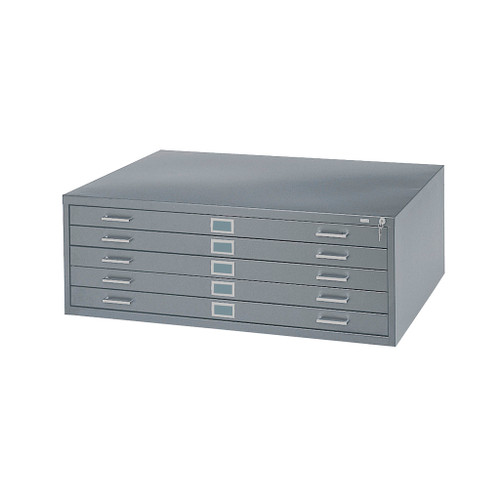 Safco 5-Drawer Steel Flat File, 30 x 42, Gray