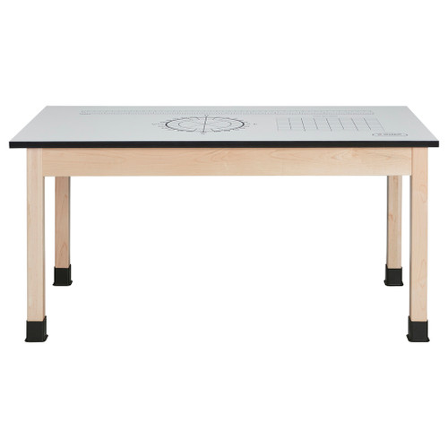 Diversified Woodcrafts STEM Table with Dry Erase Top, Maple