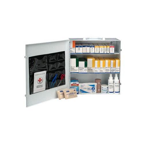 First Aid Only 100 Person 3-Shelf First Aid Steel Cabinet