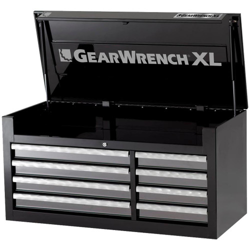 GearWrench 8 Drawer XL Series Black & Silver Top Tool Chest