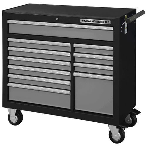 GearWrench 11 Drawer XL Series Black & Silver Roller Tool Cabinet