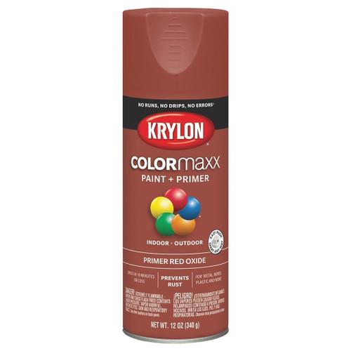 Krylon COLORmaxx Spray Primer, Red Oxide