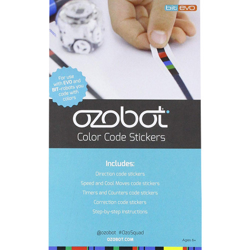 Ozobot Color Code Stickers for Evo and Bit  DISCONTINUED