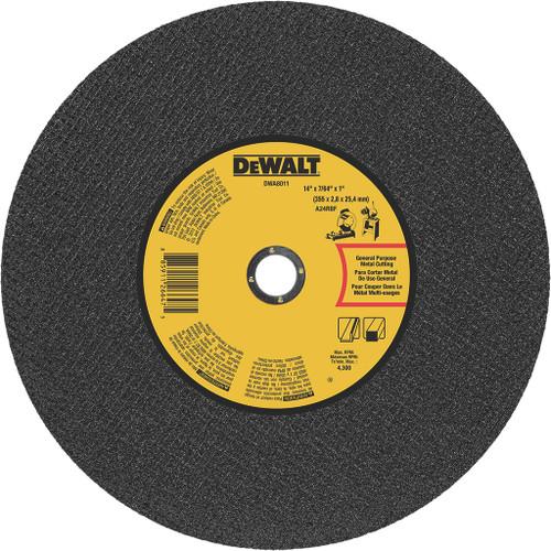 "DeWalt General Purpose Metal Chop Saw Wheel, 14"" x 7/64"" x 1"""