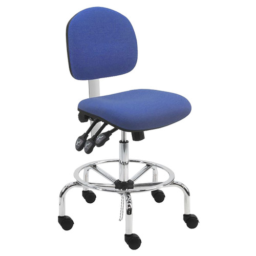 """BenchPro Lincoln Fabric ESD Tall Chair, 22""""-30"""""""