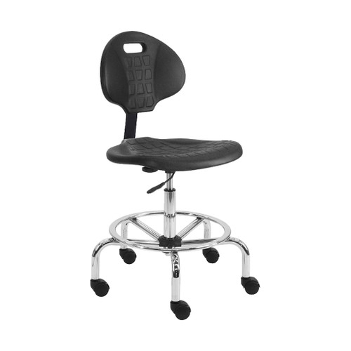 "BenchPro Urethane Tall with Footring Chair, 19""-27"""