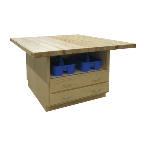 """Hann Craft & Project Workstation, 2-1/4"""" Maple Top"""