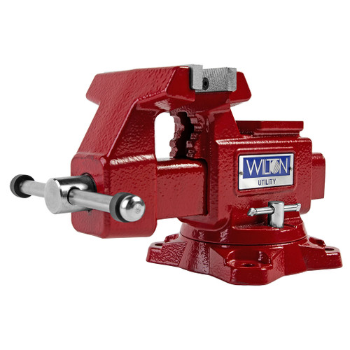"Wilton Utility Bench Vise 4-1/2"" Jaw Width, 4"" Jaw Opening, 360° Swivel Base"