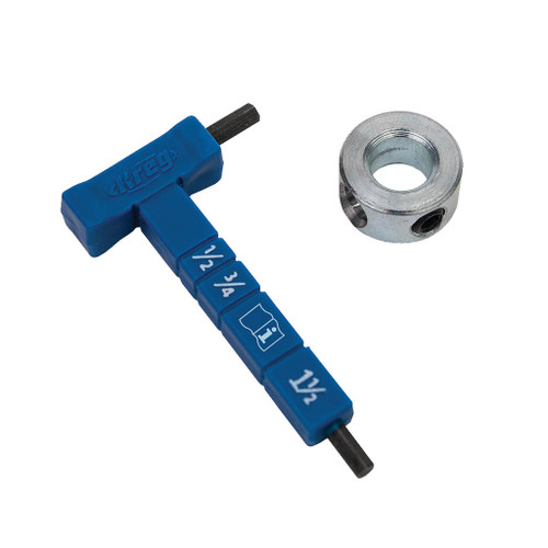 Kreg Easy-Set Stop Collar and Material Gauge/Hex Wrench Kit