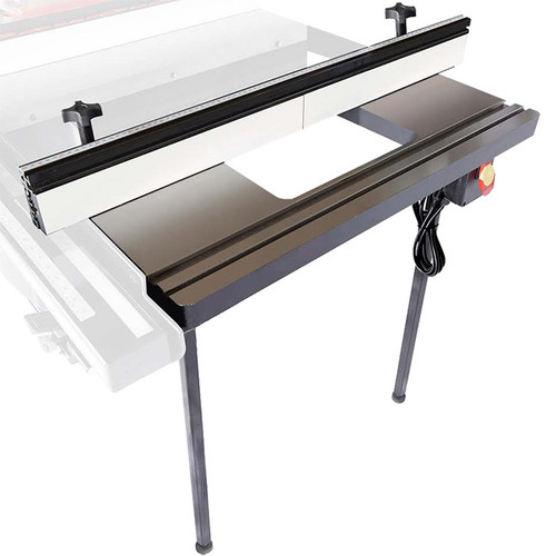 """SawStop Industrial Cabinet Saw 30"""" In-Line Router Table"""