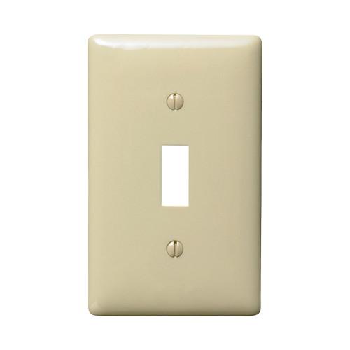 Pass & Seymour Switch Plate, Single Toggle, Ivory