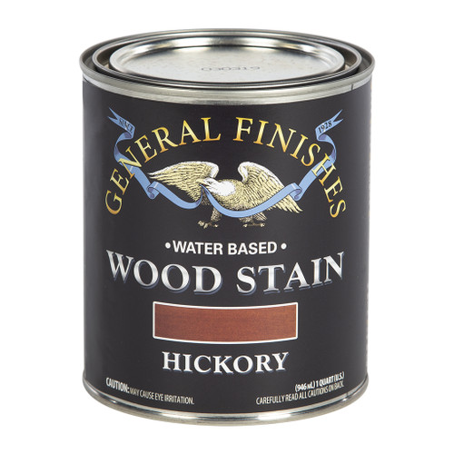 General Finishes Water-based Wood Stain, Hickory, Qt.