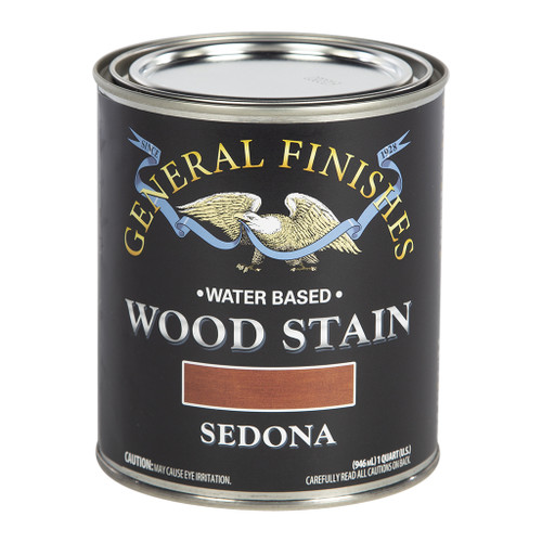 General Finishes Water-based Wood Stain, Sedona, Qt.