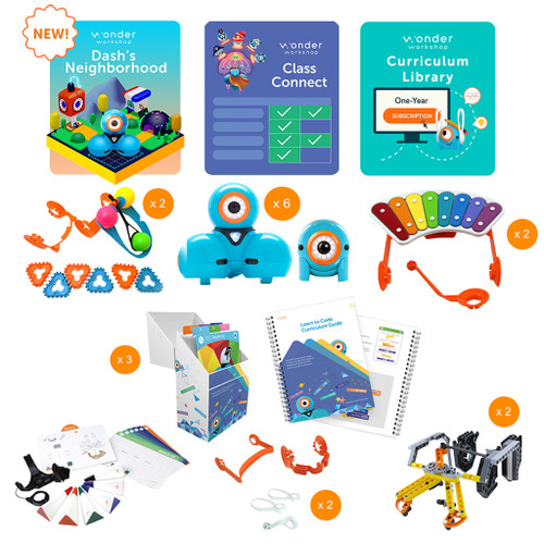 Wonder Workshop Dash & Dot K-5 Classroom Pack with Class Connect