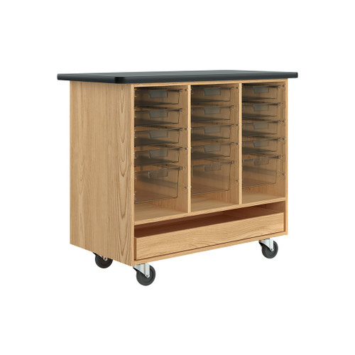 Diversified Woodcrafts Open Tote Mobile Cabinet, Oak