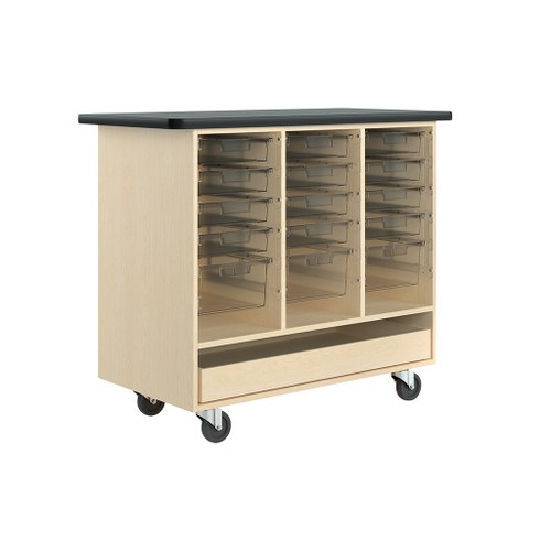 Diversified Woodcrafts Open Tote Mobile Cabinet, Maple