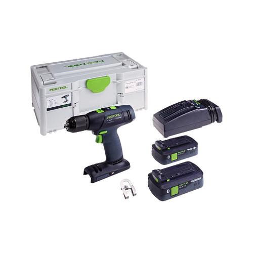 Festool T 18+3-E HPC4, 0 I-PLUS Cordless Drill Kit