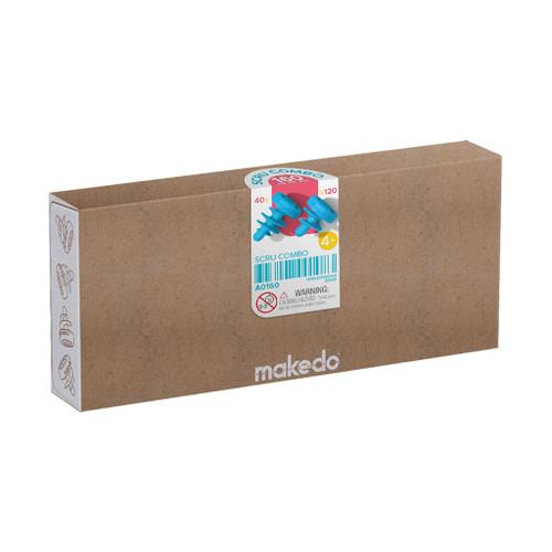 Makedo Cardboard Construction Combo Scru Kit, 160-Piece
