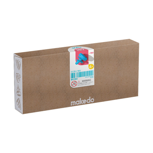 Makedo Cardboard Construction Scru Kit, 180-Piece